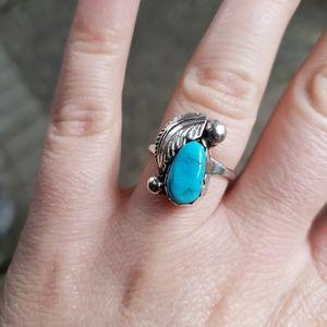 Signed Native American Designer Sterling Zuni Ring